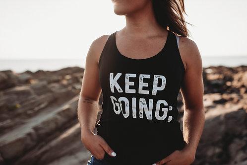 Keep Going; Women's Racerback V2