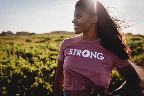 Strong Women's Cropped Shirt