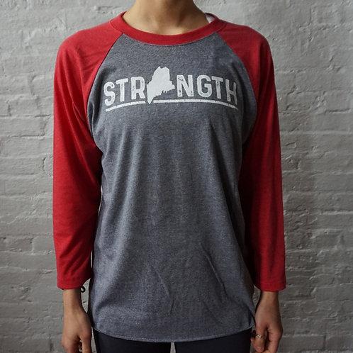 Women's Strength Maine -3/4 Baseball Shirt (New)