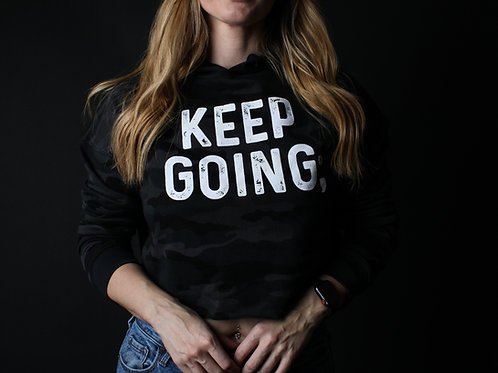 Keep Going: Cropped Hoodie V2