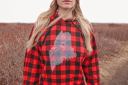 Find Your Happy Unisex Plaid Hoodie