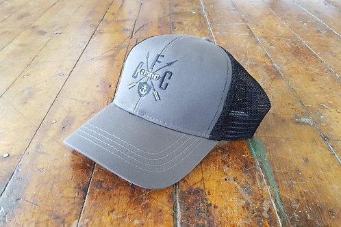 Kennebec County Mesh Snapback- Charcoal/Black