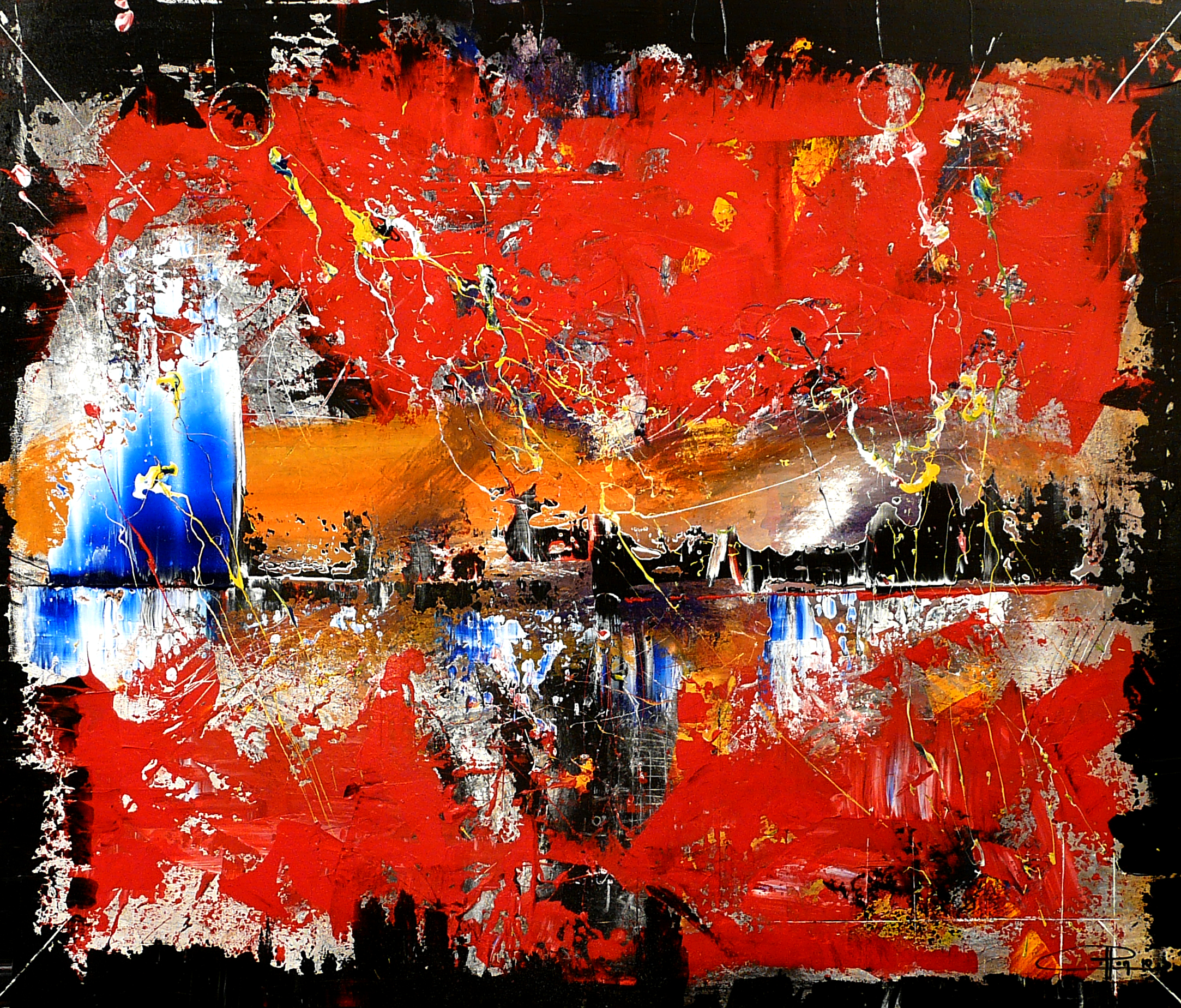 les maux I bleus 120 x 100 juin 2010