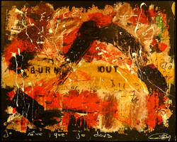 burn out toile recouverte