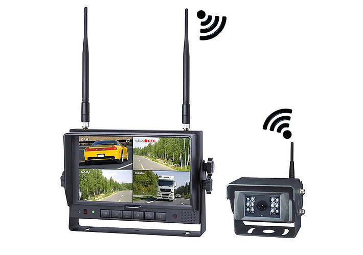"Wireless digital system 2.4 GHz with multi display 7"" screen"