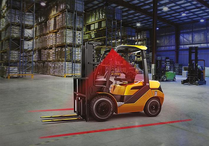 Warning Line on Floor for Forklifts