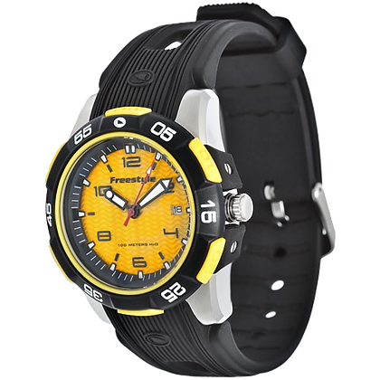 Freestyle Men's Kampus Watch, Yellow/Black PU