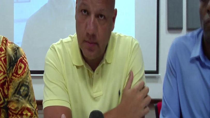 Libardo Asprilla Lara  (Director para Asunto de Comunidades Negras, Afrocolombianas, Raizales y Palenqueras) y Alain Manjarrez Flórez (Gobernador Encargado)