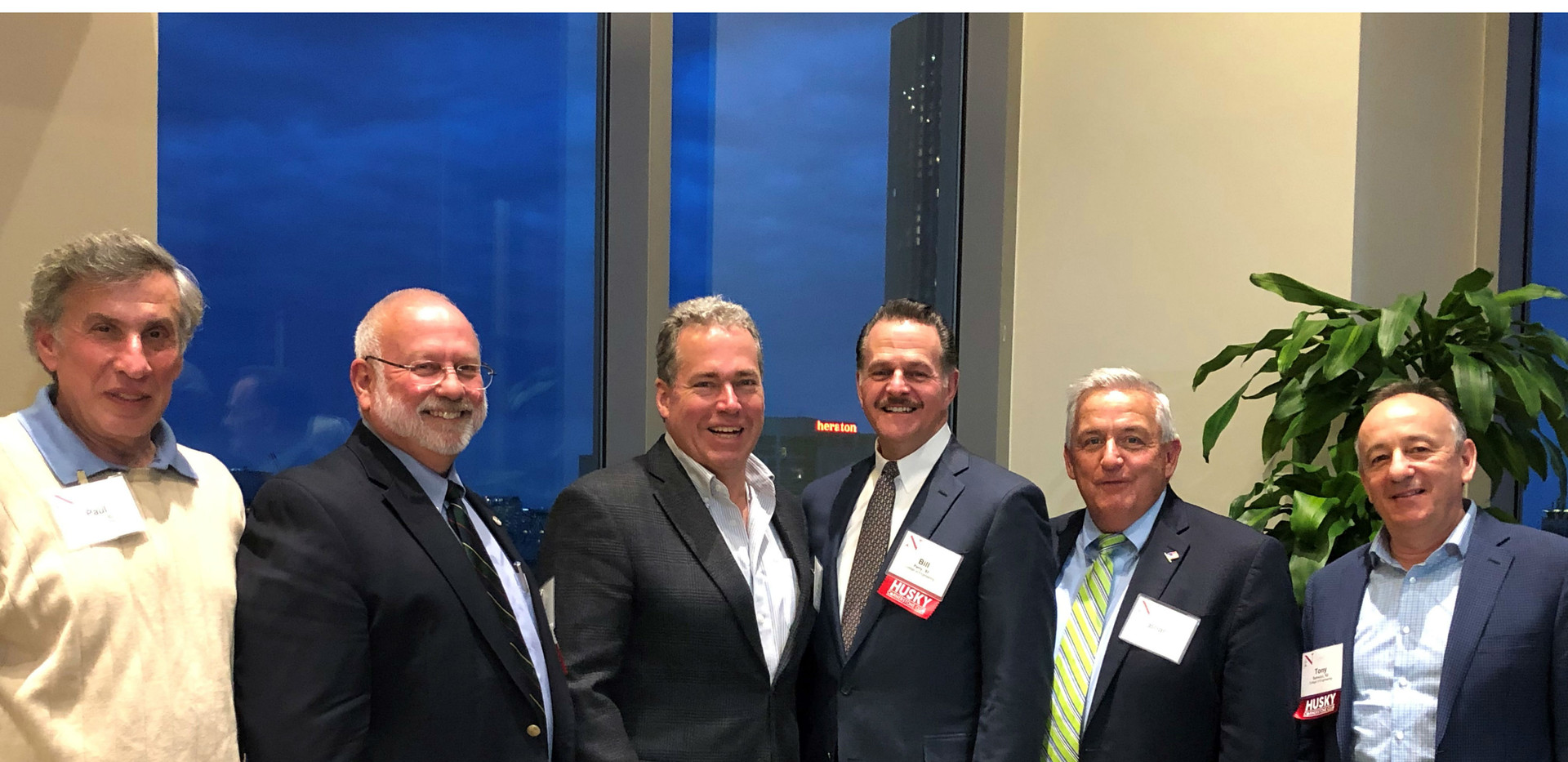 Bill Perry and fellow alums at the 2019 NU Civil Engineering Annual Alumni Dinner – 5/09/19