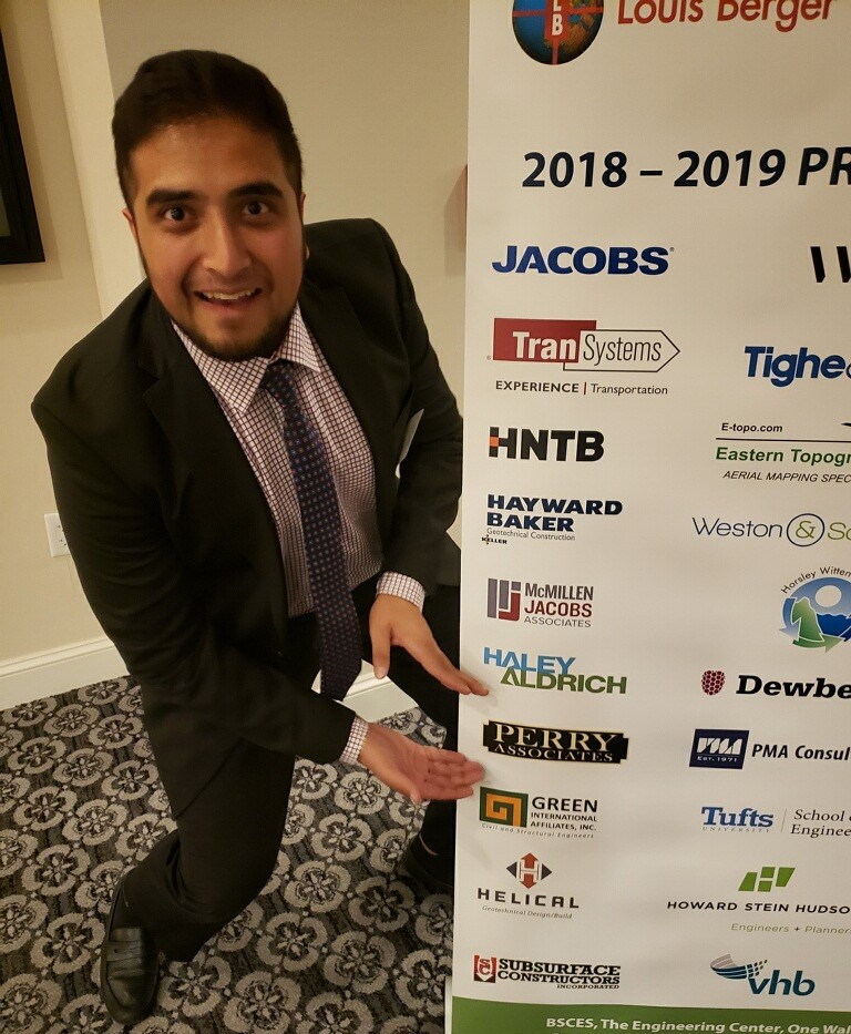 Sahil Sharma of PA admires the company logo at a BSCES Event! – 5/06/19