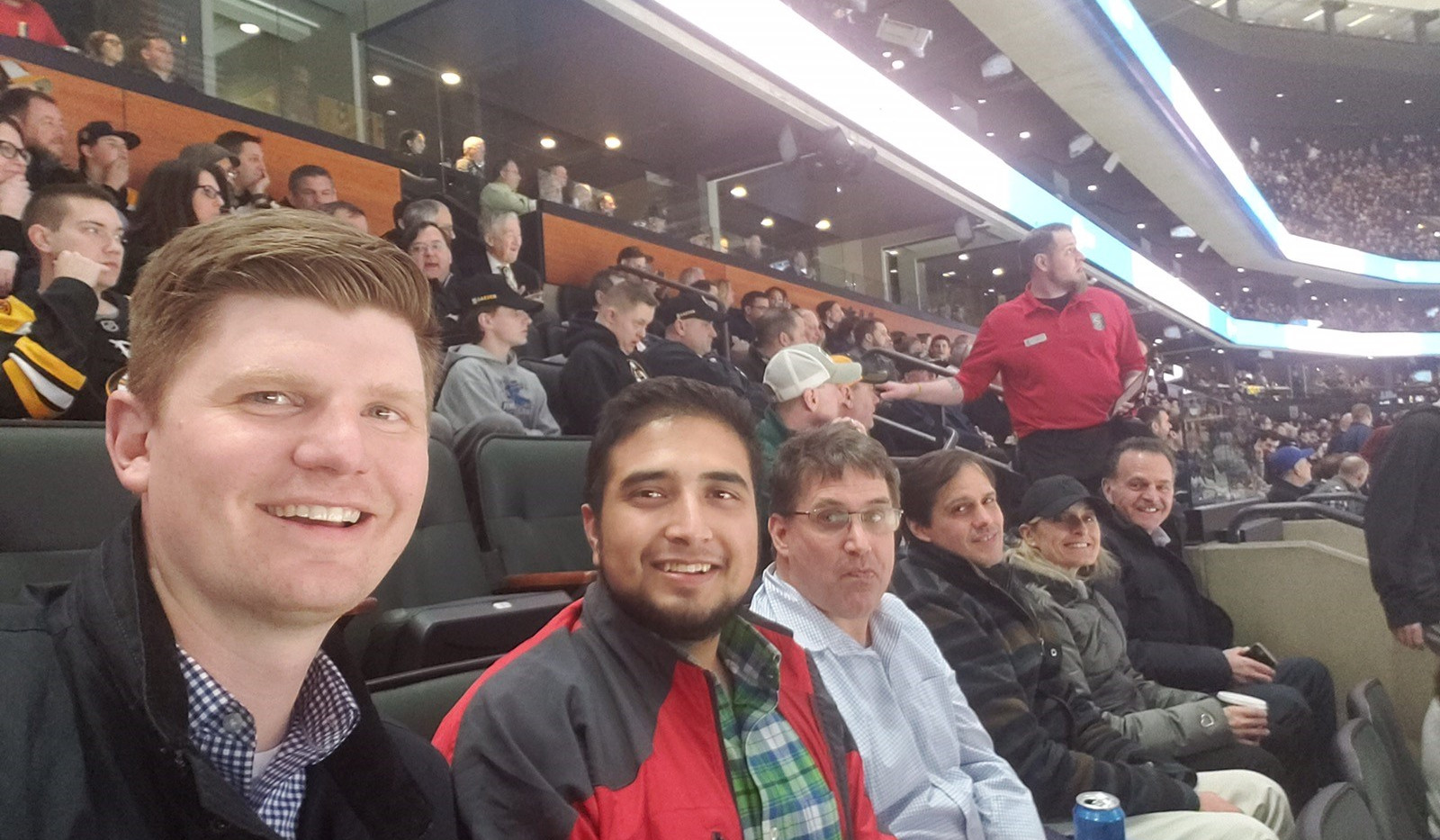 PA Staff at the Bruins/Rangers game – 3/27/19