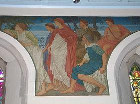 Mural at Casterton church