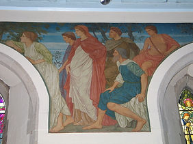 Mural at Casterton church