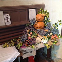 Harvest festival at Holy Trinity church in Casterton