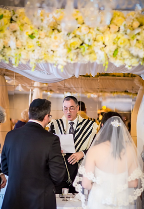 Alice & Nathaniel's Chuppah, comprised of an avalanche of fresh flowers, was especially beautiful