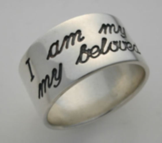 """""""I am my beloved's and my beloved is mine"""", taken from the Bible's """"Song of Songs"""" (6:3), is a traditional verse used to describe a woman's love for her husband"""