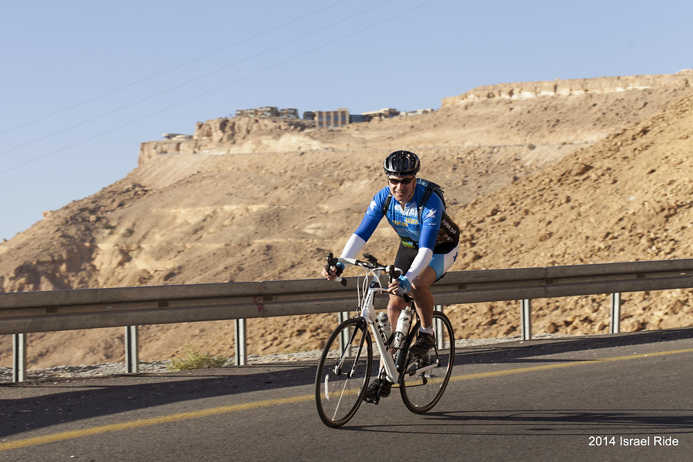 Rabbi Lev H cycled 350 miles in Israel in 2014