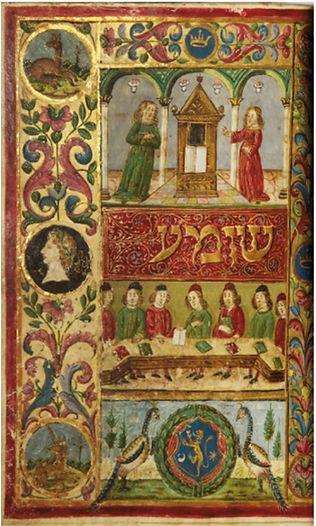 Recitation of Hallel, a Jewish prayer of thanksgiving