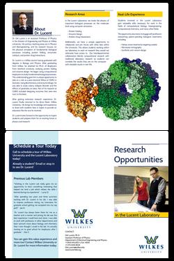 Lucent Laboratory Tri-fold Brochure