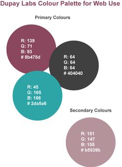 Dupay Laboratories Colour Palette