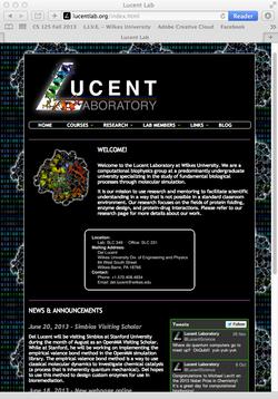 Lucent Laboratory Website Design