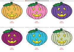 Python ~ Random Colour Pumpkin