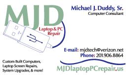 MJD Laptop & PC Repair Card Front