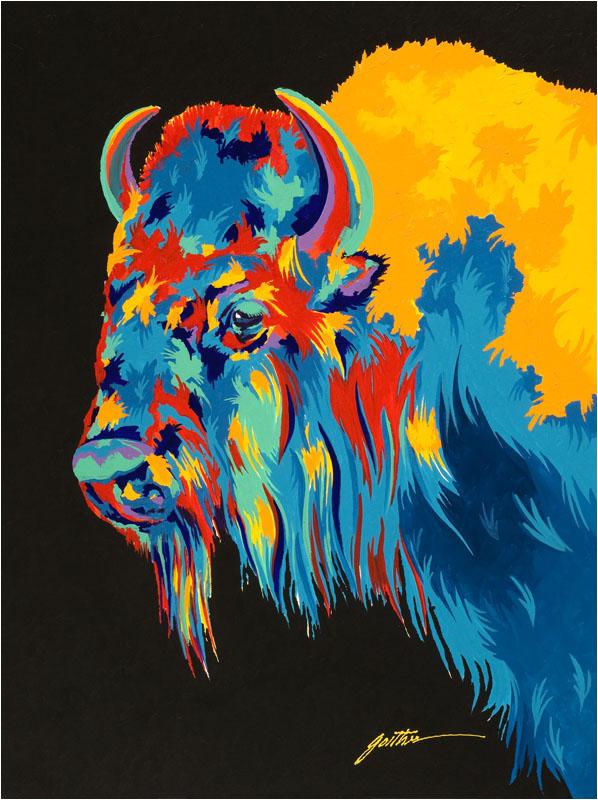 Yellowstone Bison 40x30