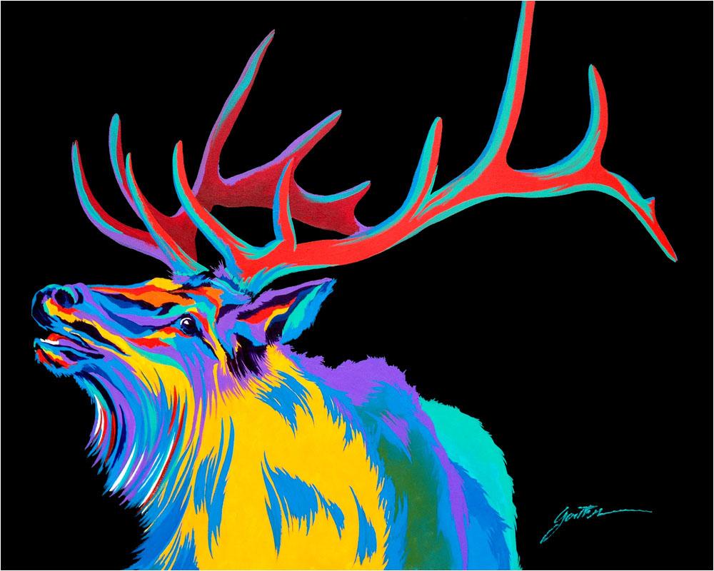 Rocky Mountain Elk 30x40