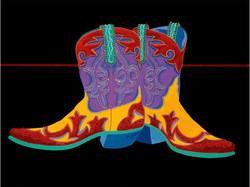 Honkey-Tonk Boots 24x32