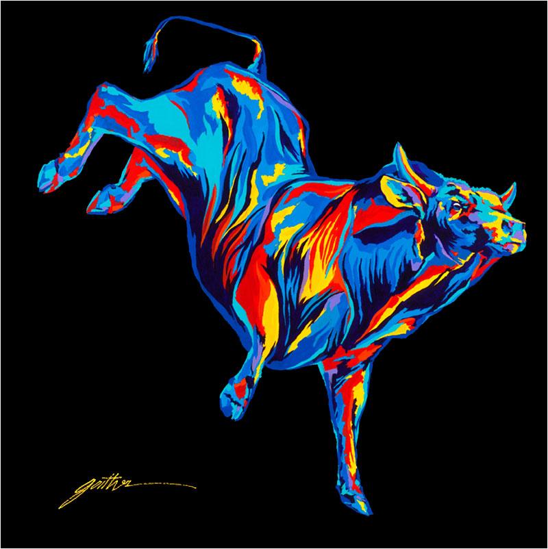 Bucking Bull Bourbon 36x36