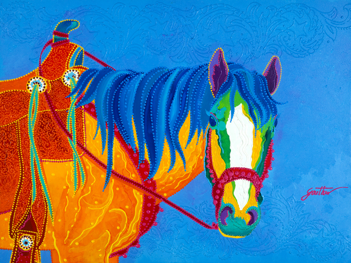 Horse Of A Different Color 30x40