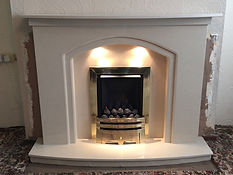 Kelso suite in Orion with Crystal Super gas fire