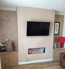 Gotham900 with custom built chimney breast