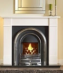 Jubilee highlighted cast with gas fire with Brompton suite