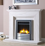 3D Ecoflame™ electric fire with Satin Elite fascia shown in Katia surround