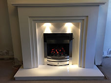 Instyle suite in polar white with Montese slide control gas fire