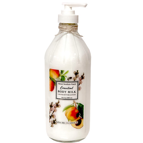 Peach Body Milk 16 oz  (glass)