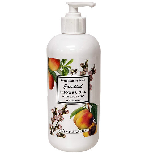 Peach Shower Gel 16 oz
