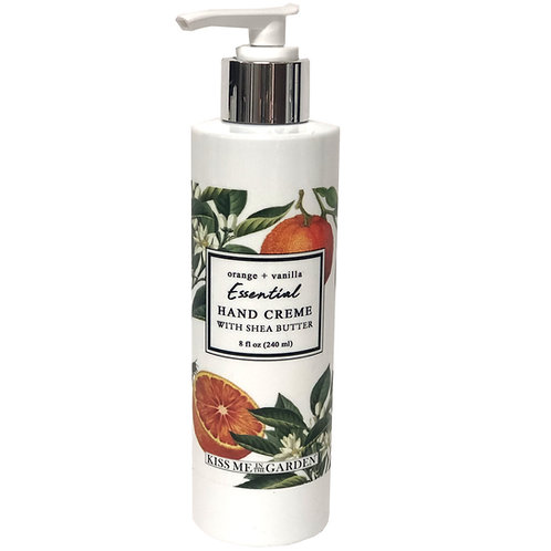 Orange Vanilla Hand Creme 8 oz