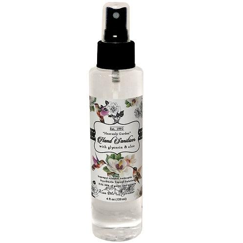 Hand Sanitizer Spray 4 oz -Heavenly Garden