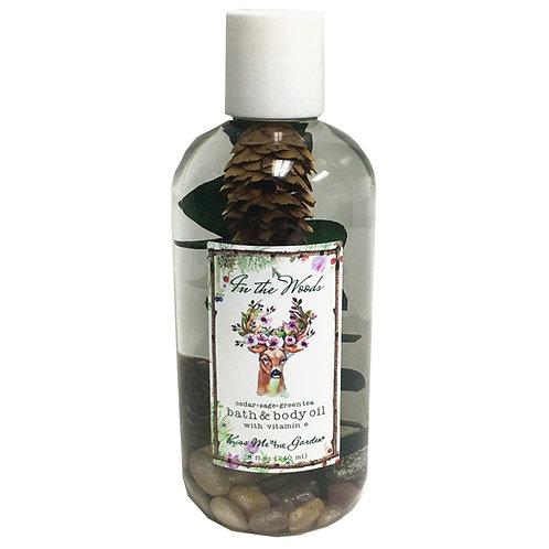 In The Woods Bath Oil 8 oz (plastic)