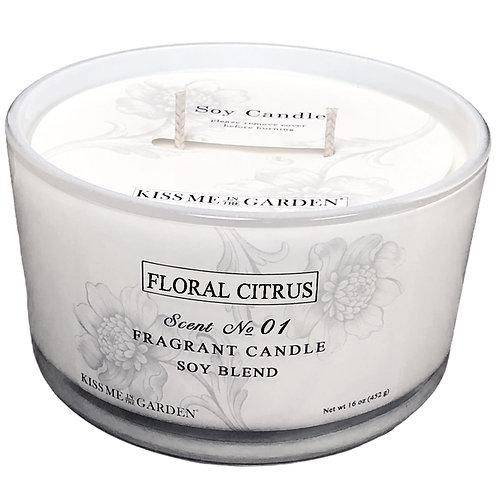 16 oz Floral Citrus Candle
