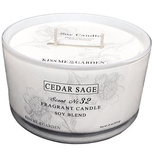 16 oz Cedar Sage Candle
