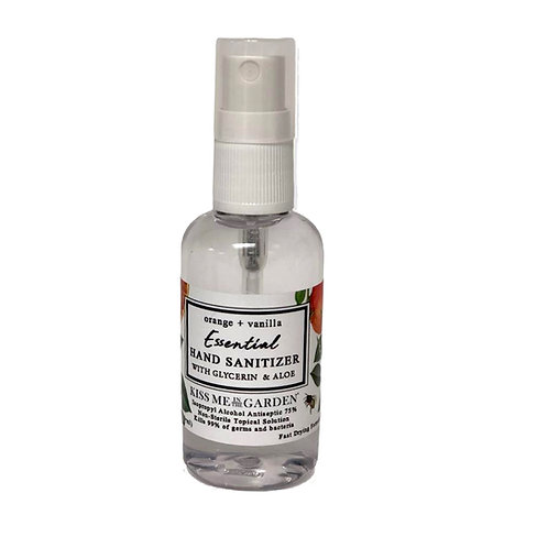 MINI Hand Sanitizer Spray -Orange Vanilla