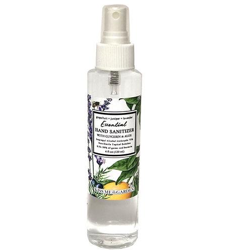 Hand Sanitizer SPRAY 4 oz - Grapefruit Juniper Lavender