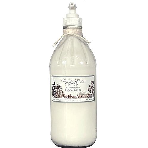 Sea Garden Cocoa Butter Body Milk 16 oz (glass)