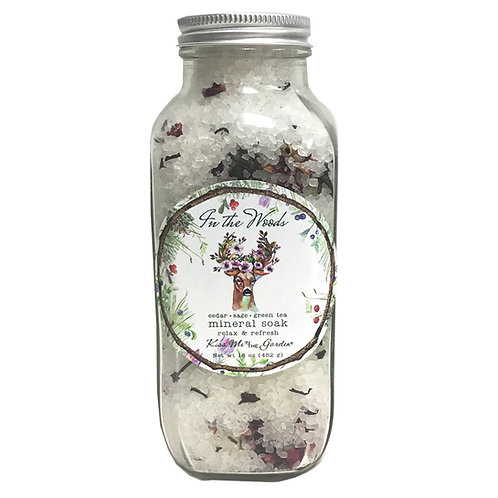 In The Woods Mineral Soak 16 oz (glass)