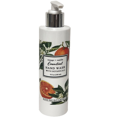 Orange Vanilla Hand Wash 8 oz
