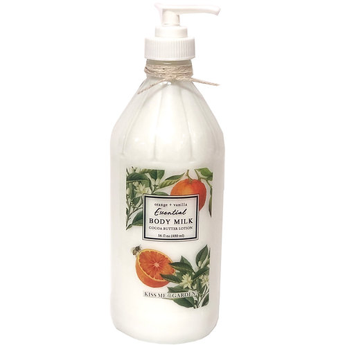 Orange Vanilla Body Milk 16 oz  (glass)